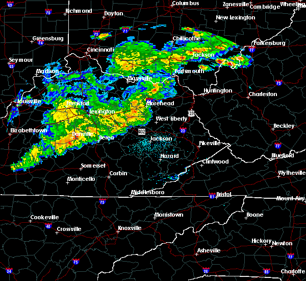 Radar Image for Severe Thunderstorms near Crab Orchard, KY at 5/26/2019 5:43 PM EDT