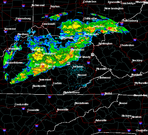 Radar Image for Severe Thunderstorms near Lancaster, KY at 5/26/2019 5:59 PM EDT