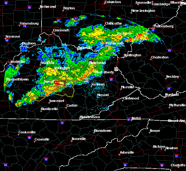 Radar Image for Severe Thunderstorms near Crab Orchard, KY at 5/26/2019 6:09 PM EDT