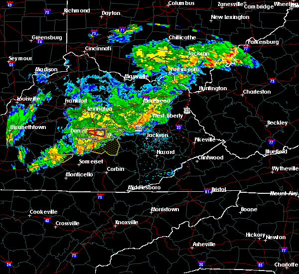 Radar Image for Severe Thunderstorms near Richmond, KY at 5/26/2019 6:11 PM EDT