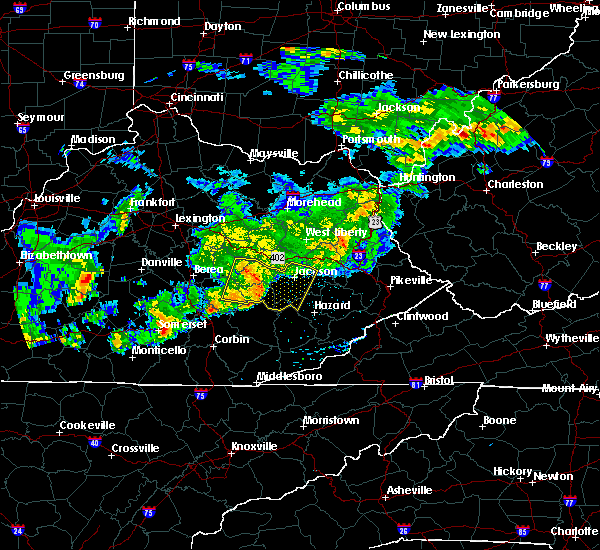 Radar Image for Severe Thunderstorms near McKee, KY at 5/26/2019 6:49 PM EDT