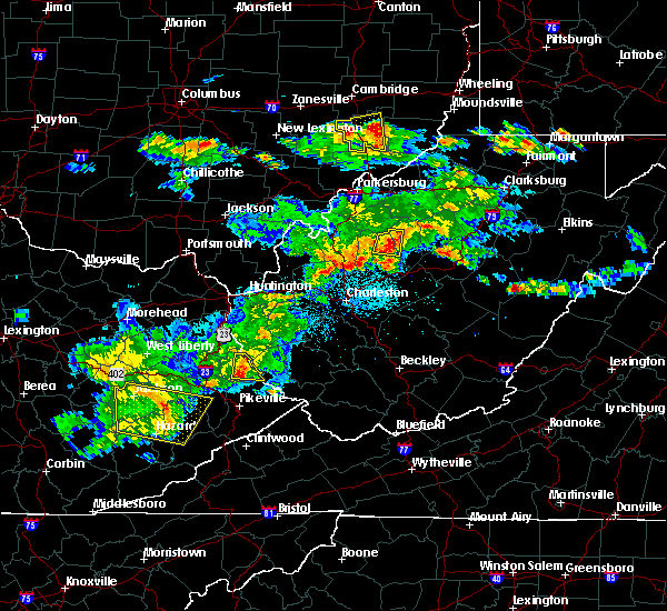 Radar Image for Severe Thunderstorms near Warfield, KY at 5/26/2019 7:30 PM EDT