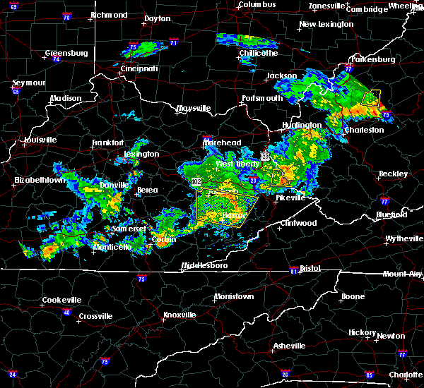 Radar Image for Severe Thunderstorms near Pippa Passes, KY at 5/26/2019 7:35 PM EDT