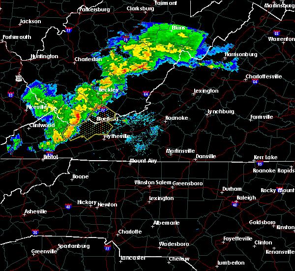Radar Image for Severe Thunderstorms near Cedar Bluff, VA at 5/26/2019 9:08 PM EDT