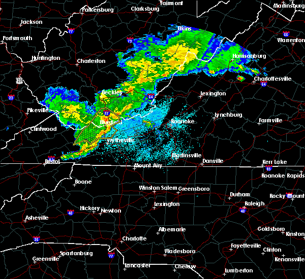Radar Image for Severe Thunderstorms near Hiwassee, VA at 5/26/2019 9:43 PM EDT