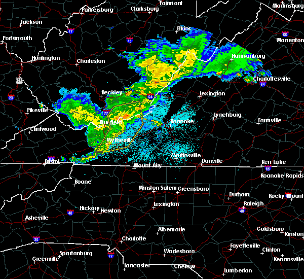 Radar Image for Severe Thunderstorms near Hiwassee, VA at 5/26/2019 10:01 PM EDT