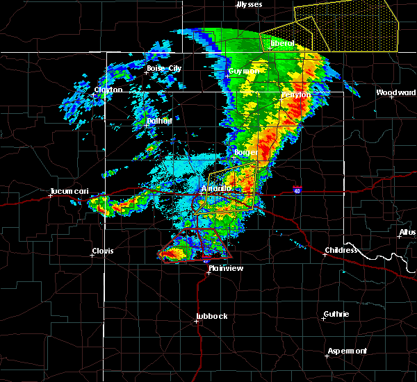 Radar Image for Severe Thunderstorms near Happy, TX at 5/26/2019 10:32 PM CDT