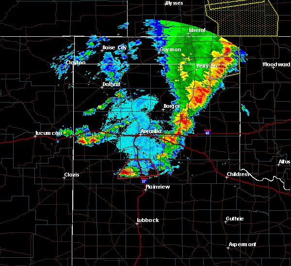 Radar Image for Severe Thunderstorms near Happy, TX at 5/26/2019 10:48 PM CDT