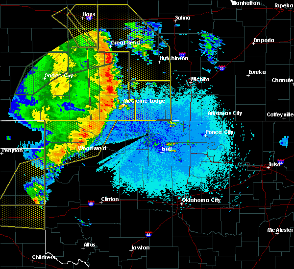Radar Image for Severe Thunderstorms near Woodward, OK at 5/27/2019 12:16 AM CDT