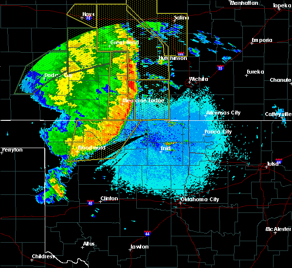 Radar Image for Severe Thunderstorms near Freedom, OK at 5/27/2019 12:45 AM CDT