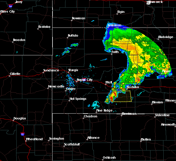 Radar Image for Severe Thunderstorms near Wanblee, SD at 6/14/2015 6:29 AM MDT