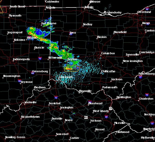 Radar Image for Severe Thunderstorms near Lebanon, OH at 5/27/2019 5:31 PM EDT