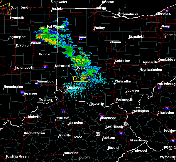 Radar Image for Severe Thunderstorms near Lebanon, OH at 5/27/2019 5:46 PM EDT