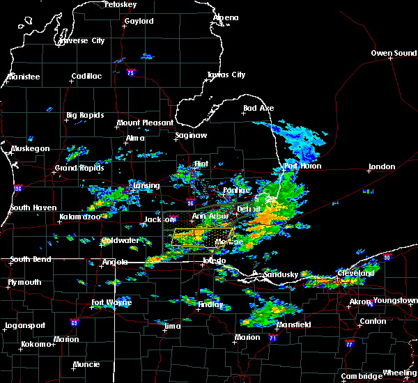 Radar Image for Severe Thunderstorms near Dundee, MI at 6/14/2015 3:27 PM EDT