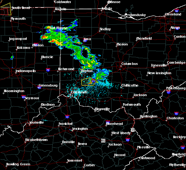 Radar Image for Severe Thunderstorms near Lebanon, OH at 5/27/2019 5:58 PM EDT