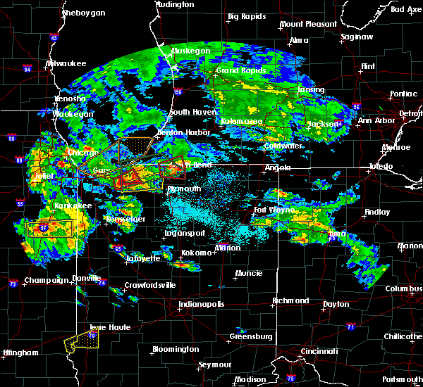 Radar Image for Severe Thunderstorms near Mishawaka, IN at 5/27/2019 6:35 PM EDT