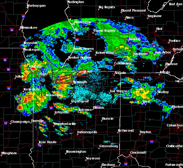Radar Image for Severe Thunderstorms near Shipshewana, IN at 5/27/2019 6:53 PM EDT