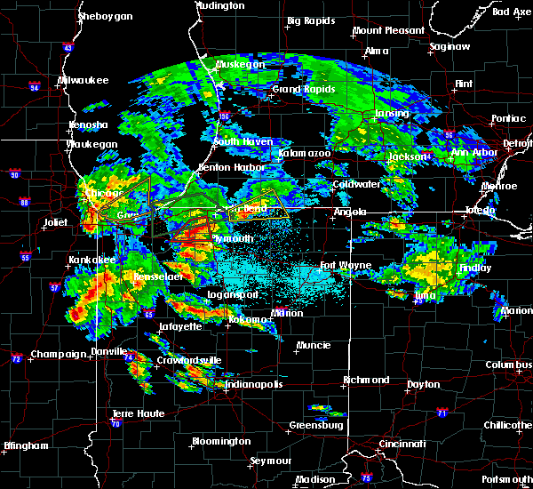 Radar Image for Severe Thunderstorms near Koontz Lake, IN at 5/27/2019 7:04 PM EDT
