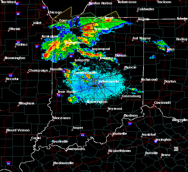 Radar Image for Severe Thunderstorms near Stockwell, IN at 5/27/2019 7:08 PM EDT