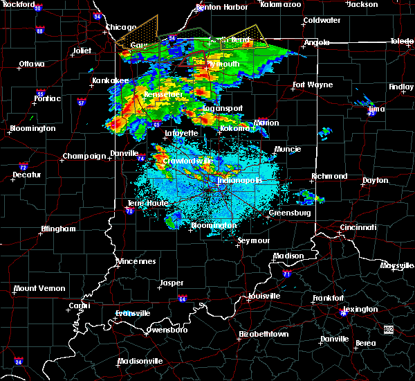 Radar Image for Severe Thunderstorms near Stockwell, IN at 5/27/2019 7:17 PM EDT