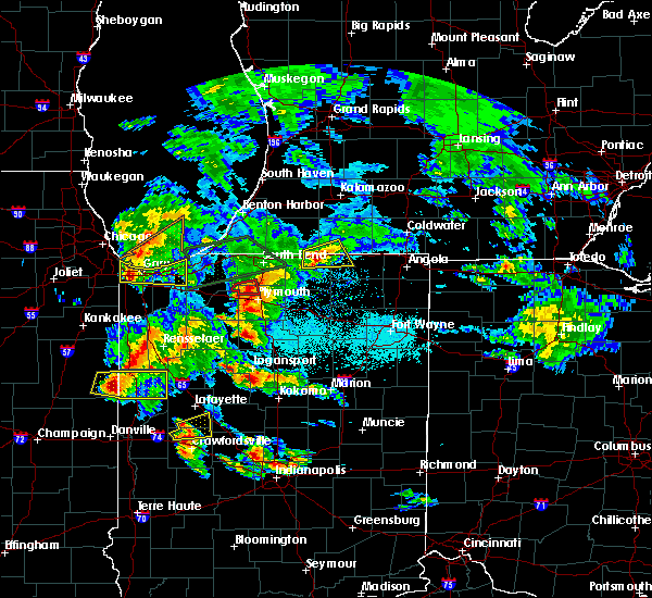 Radar Image for Severe Thunderstorms near Shipshewana, IN at 5/27/2019 7:17 PM EDT