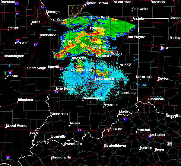 Radar Image for Severe Thunderstorms near Otterbein, IN at 5/27/2019 7:40 PM EDT
