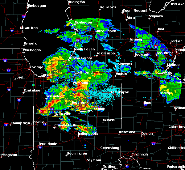Radar Image for Severe Thunderstorms near Onward, IN at 5/27/2019 7:47 PM EDT