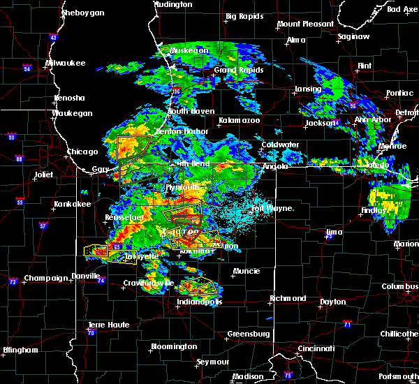 Radar Image for Severe Thunderstorms near Akron, IN at 5/27/2019 7:52 PM EDT