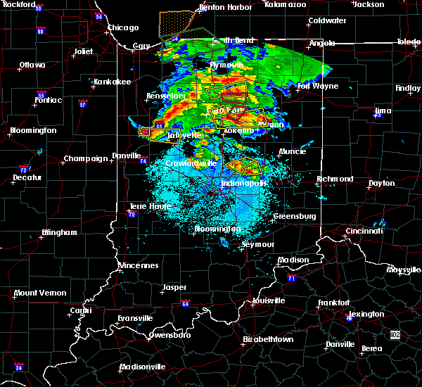 Radar Image for Severe Thunderstorms near River Forest, IN at 5/27/2019 7:56 PM EDT