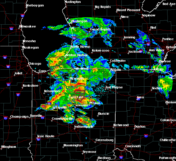 Radar Image for Severe Thunderstorms near Roann, IN at 5/27/2019 7:57 PM EDT