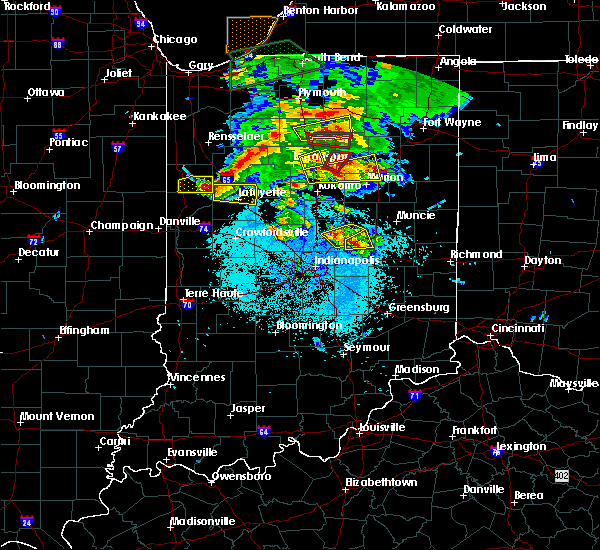Radar Image for Severe Thunderstorms near Chesterfield, IN at 5/27/2019 8:07 PM EDT