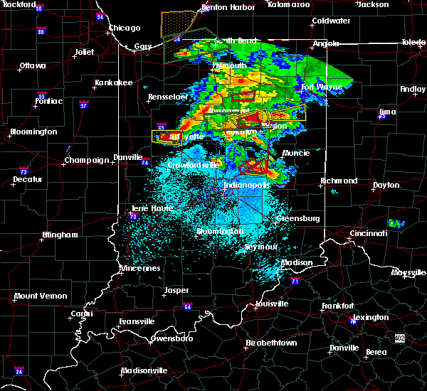 Radar Image for Severe Thunderstorms near Pendleton, IN at 5/27/2019 8:20 PM EDT