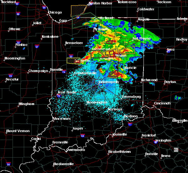 Radar Image for Severe Thunderstorms near Chesterfield, IN at 5/27/2019 8:31 PM EDT