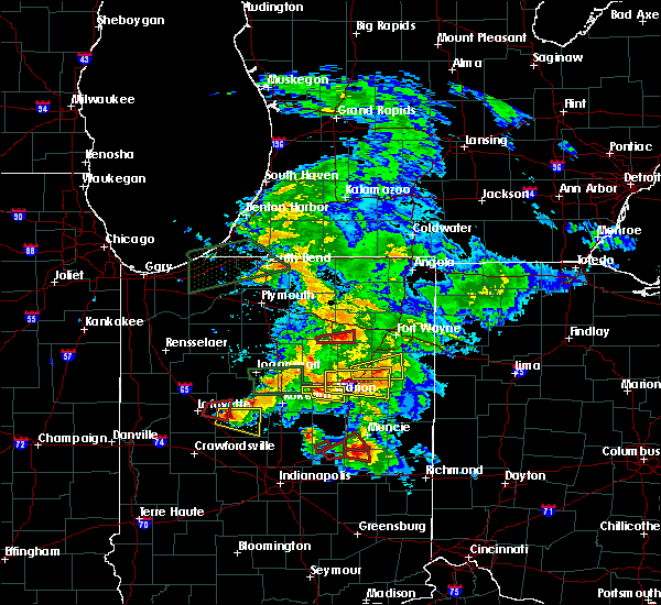 Radar Image for Severe Thunderstorms near South Whitley, IN at 5/27/2019 8:46 PM EDT