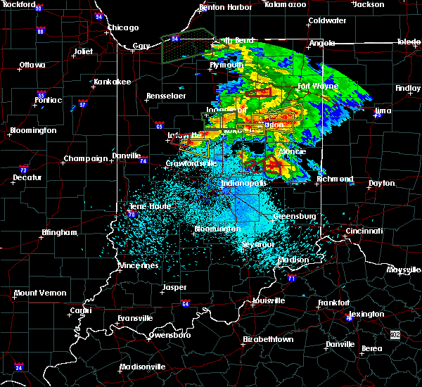 Radar Image for Severe Thunderstorms near Michigantown, IN at 5/27/2019 8:45 PM EDT