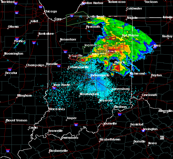 Radar Image for Severe Thunderstorms near Michigantown, IN at 5/27/2019 8:56 PM EDT