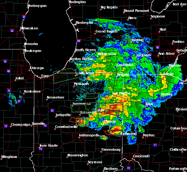 Radar Image for Severe Thunderstorms near Monroe, IN at 5/27/2019 9:25 PM EDT