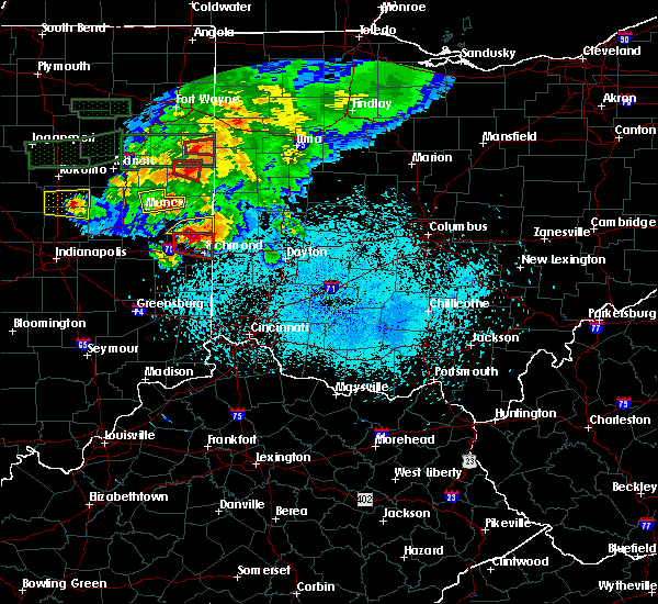 Radar Image for Severe Thunderstorms near Whitewater, IN at 5/27/2019 9:32 PM EDT