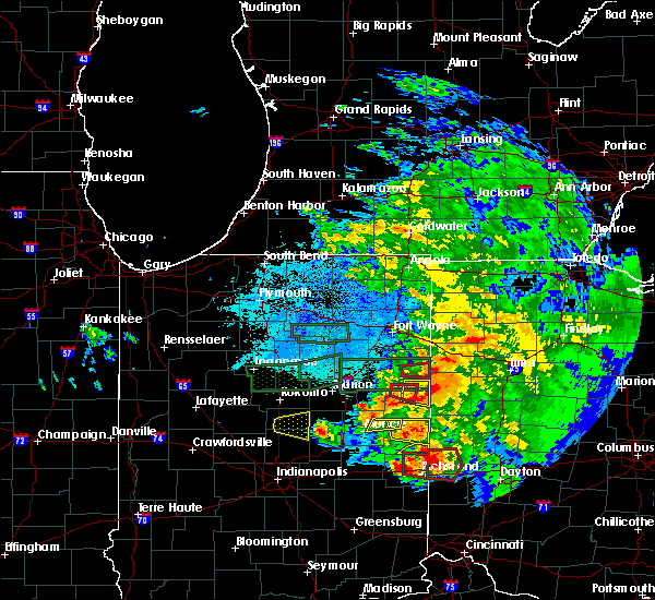 Radar Image for Severe Thunderstorms near Rockford, OH at 5/27/2019 9:47 PM EDT