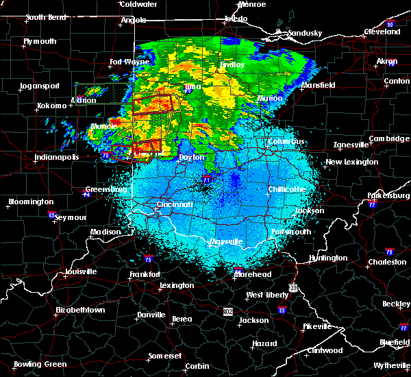 Radar Image for Severe Thunderstorms near North Star, OH at 5/27/2019 10:14 PM EDT
