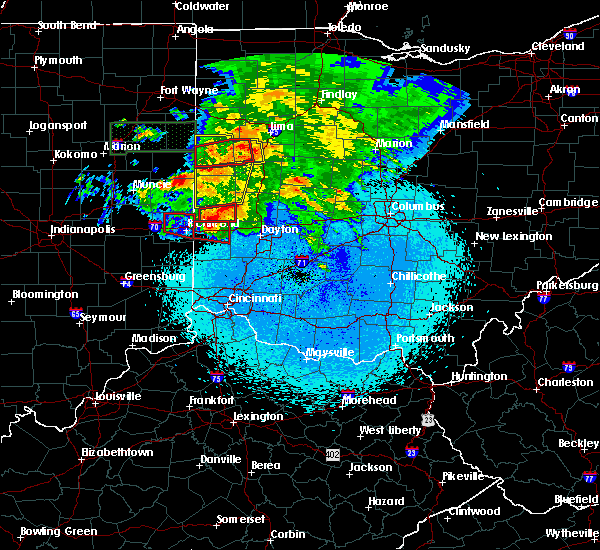 Radar Image for Severe Thunderstorms near Covington, OH at 5/27/2019 10:24 PM EDT