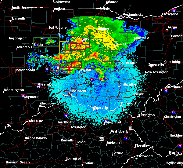 Radar Image for Severe Thunderstorms near New Lebanon, OH at 5/27/2019 10:34 PM EDT