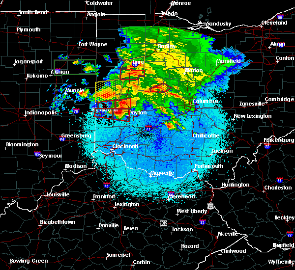 Radar Image for Severe Thunderstorms near New Lebanon, OH at 5/27/2019 10:45 PM EDT