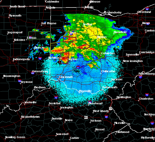 Radar Image for Severe Thunderstorms near Dayton, OH at 5/27/2019 10:51 PM EDT