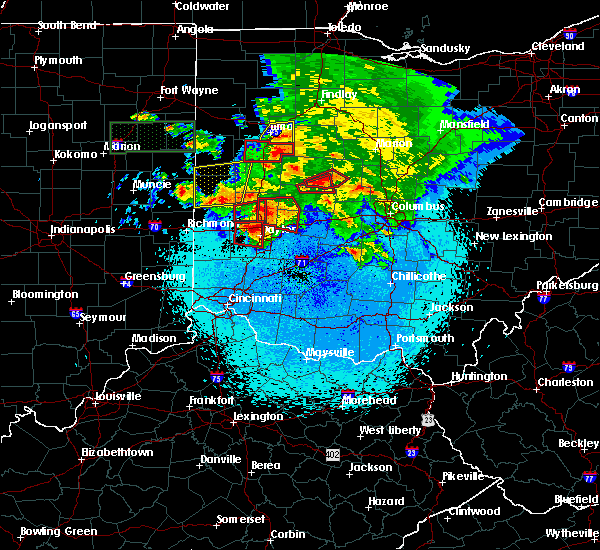 Radar Image for Severe Thunderstorms near North Star, OH at 5/27/2019 10:58 PM EDT