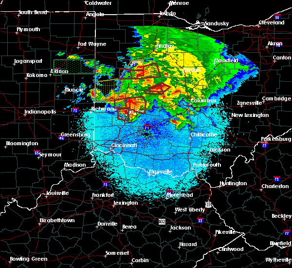 Radar Image for Severe Thunderstorms near Dayton, OH at 5/27/2019 11:00 PM EDT