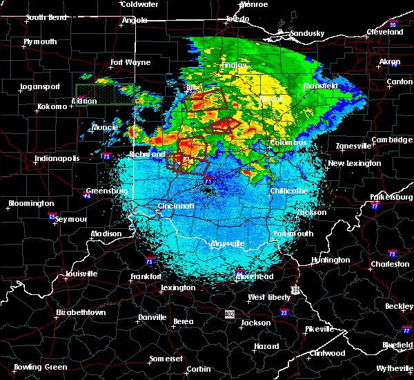 Radar Image for Severe Thunderstorms near Kettering, OH at 5/27/2019 11:03 PM EDT