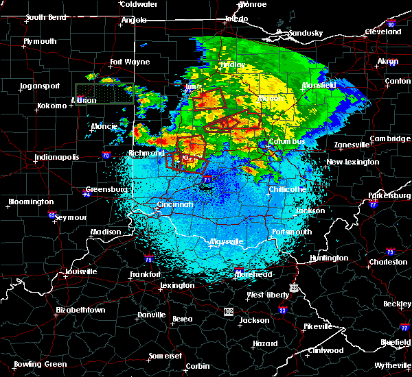 Radar Image for Severe Thunderstorms near Valley Hi, OH at 5/27/2019 11:11 PM EDT