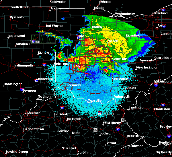 Radar Image for Severe Thunderstorms near Dayton, OH at 5/27/2019 11:16 PM EDT