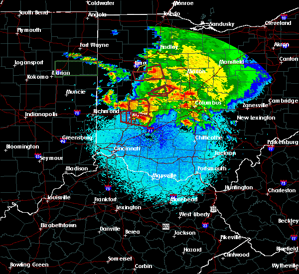 Radar Image for Severe Thunderstorms near Kettering, OH at 5/27/2019 11:18 PM EDT
